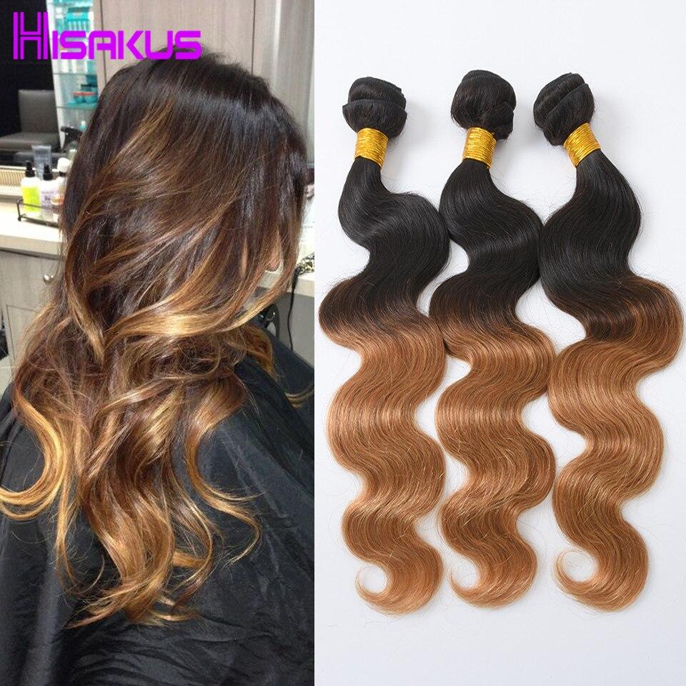 Virgin Brazilian Body Wave Bundles Ombre Human Hair 3 Bundle Deals 7a Unprocessed Virgin Hair Ombre Brazilian Hair Weave 1b/27 <br><br>Aliexpress
