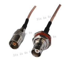 The factory sales RF Coaxial cable TV to BNC connector TV female to BNC female Jack RG316 Pigtail cable 15cm fast ship(China)