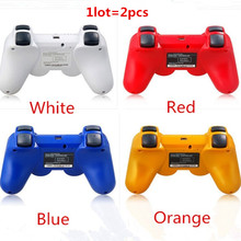 High quality 2pcs Wireless Bluetooth Game Controller gamepad For playstation 3 PS3 SIXAXIS Controle Joystick Gamepad free ship(China)