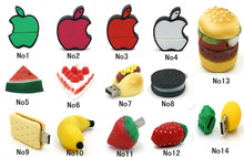 Drop shipping New Customize Fruit Food Novelty USB 2.0 Memory flash stick pendrive