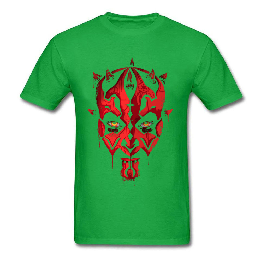 Darth Maul Emerges Summer 100% Cotton Round Neck Tees Short Sleeve Design Clothing Shirt Rife Unique Top T-shirts Darth Maul Emerges green