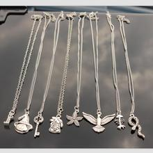 Wholesale Silver Plated Fashion Men Women Different Shape Pendant Necklace Vintage Bijoux Collars Jewelry New Girl One Direction