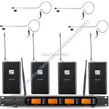 MICWL Audio M400-4BL UHF 400 Channel Digital Wireless Microphone Mic System 4 mini black ear hook Headset Mike(China)