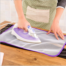 Hot sale Handy Ironing Mat Board Cover Heat Laundry Iron protective mesh press protect protector clothes garment(China)