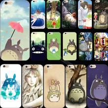 Soft Silicon Painting Cute Totoro Phone Cover Case For Apple iPhone 6 iPhone 6S iPhone6 iPhone6S Cases Shell 2017 Newest Hot Top