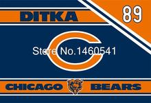 Chicago Bears Logo Flag 3ft x 5ft Polyester NFL Bears Mike Ditka 89 Retirement Celebration Banner Flying Size No.4 144* 96cm(China)