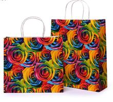 03.31/ 28*10*25cm printed rose paper jewelry bags/colorful Paper gift Bagss with handles(China)