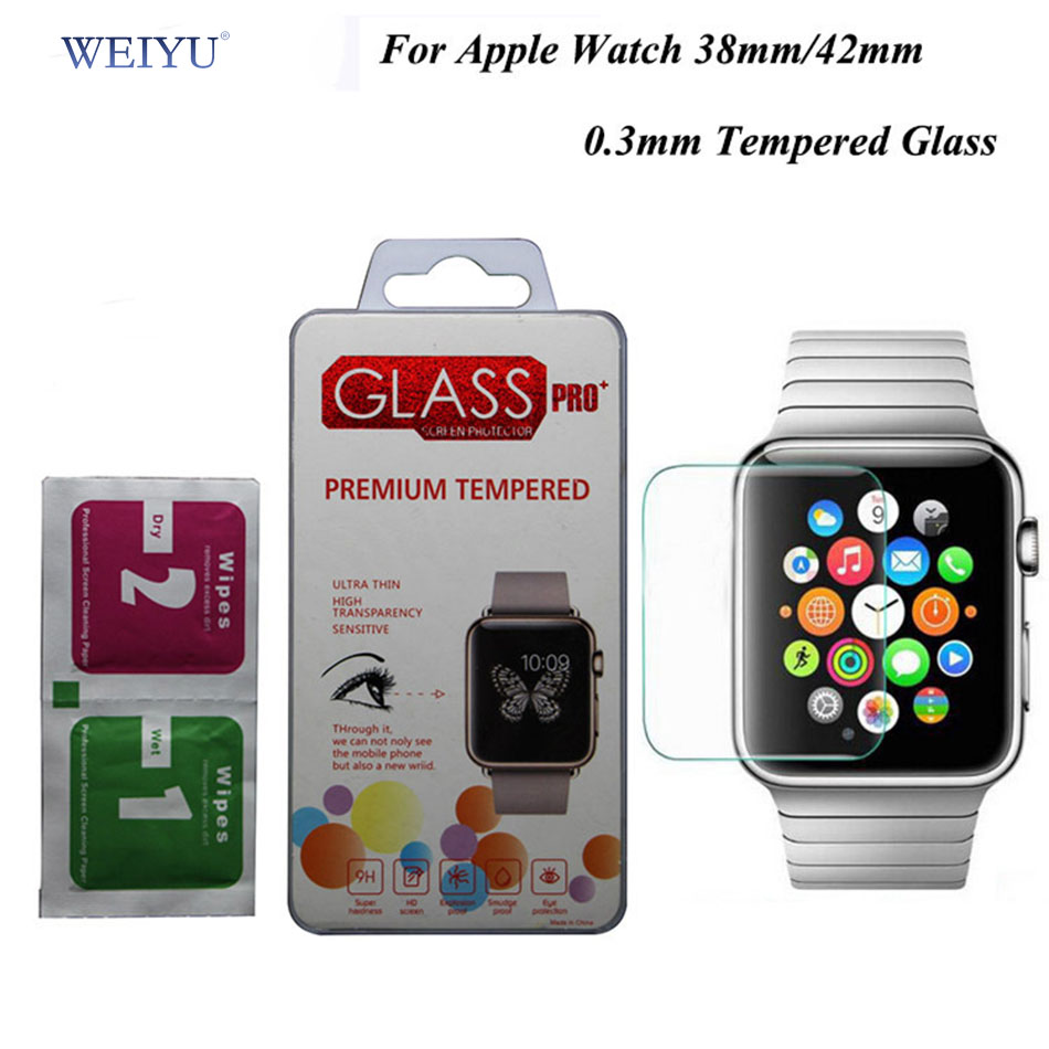 WEIYU Explosion-proof Tempered Glass Film for Apple Watch (42mm/38mm) Screen Protector Free Shipping pelicula de vidro(China (Mainland))