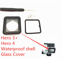 2017 New Go pro Accessories Go pro Glass Cover Lens for Waterproof housing Lens Replacement For Gopro Hero 4 3+ Lens Protecting(China)