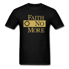 FAITH NO MORE Classic Logo t shirt Men and Women Cotton Tees size S-XXXL(China)