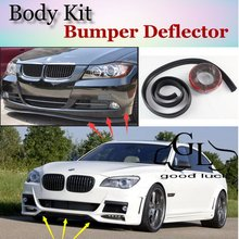 For BMW 7 E32 E38 E65 E66 E67 E68 F01 F02 Bumper Lip Lips / Top Gear Shop Spoiler For Car Tuning / TOPGEAR Show Body Kit + Strip