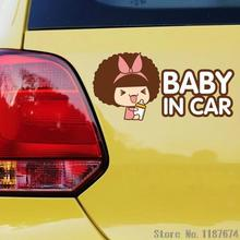 1PC lovely car stickers BABY IN CAR pregnant warning signs car stickersd for kids car accessories+