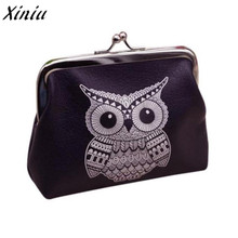 Fashion Novel style Womens Owl Wallet Card Holder Coin Purse Clutch Handbag PU Leather purse for coins monederos para mujer(China)