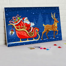 diy oil painting Santa Claus digital paint by numbers Christmas decorations for home Christmas gift for kids drawing practice