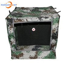 40cm*40cm camouflage target silencer archery gun slingshot hunting Tactical Decoy Vertical folding outdoor shooting box game(China)