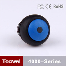 10pcs/lot Blue Dome Head pushbutton switch 12mm waterproof IP67 illuminated push button switches on off with led light