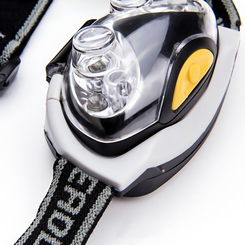 Durable Cat-eye design LED Headlamp with Headband Close Up