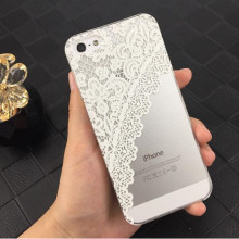 2017 Henna White Floral Flower Slim Plastic Hard Cell Phones Case Cover Skin Mobile Phone Accessories For iPhone 5 5S SE