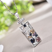 Korean version of the new personality perfume bottle perfume bottle necklace long female models female