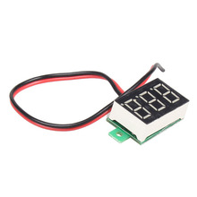 Mini DC 2.5-30V 1pc LCD digital voltmeter ammeter voltimetro Red LED Amp amperimetro Volt Meter Gauge voltage Meter DC