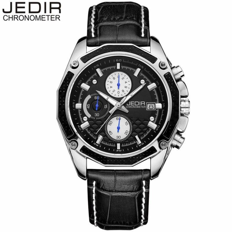 relogio masculino Fashion Style JEDIR Mens Watches Top Brand Luxury Leather Quartz Watch Chronograph Luminous Sport Wristwatch<br><br>Aliexpress