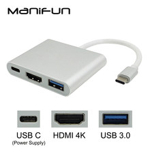 Тип usb C к HDMI USB 3,0 зарядки адаптер конвертер USB-C 3,1 хаб адаптер для MacBook Pro Pixel huawei Mate10 samsung S8 + Plus(China)