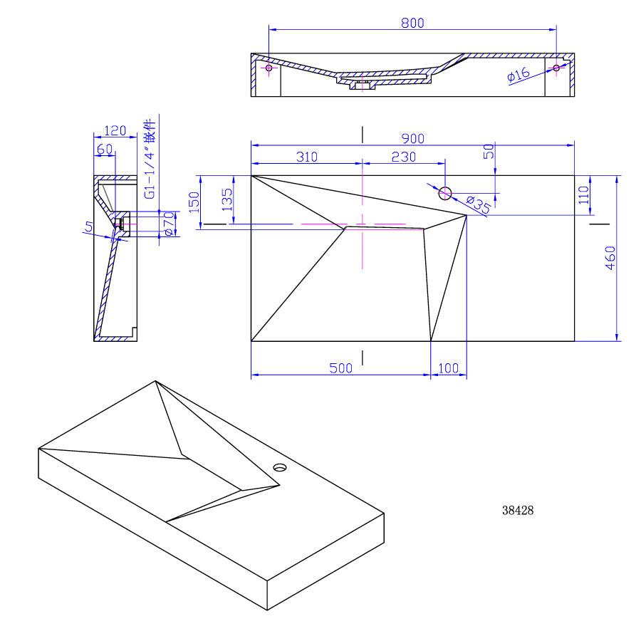 WD38427-WALLMOUNTED-BASIN-PRODIGG