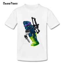 Legoe Ninjago Boys Girls T Shirt Short Sleeve Pure Cotton O Neck Kid Tshirt children's Tee Shirt 2017 T-shirt For Infants Baby(China)