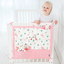Muslin Tree Bed Hanging Storage Bag Baby Cot Bed Brand Baby Cotton Crib Organizer 60*50cm Toy Diaper Pocket for Crib Bedding Set(China)