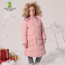 KAMIWA 2017 Long Girls Winter Coats And Jackets Outwear Warm Down Jacket Kids Girls Clothes Children Parkas Baby Girls Clothing(China)