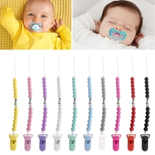 Buy Baby Pacifier Chain Baby LOVE Pacifier Soother Nipple Leash Strap Chain Newborn Dummy Clip Holder Candy Color 18cm Feeding Kit for $1.15 in AliExpress store