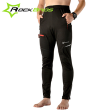 Rockbros Bike Bicycle Cycling Windproof Autumn Winter Pants Ciclismo Bicicleta Outdoor Sport Wear Warmth Riding Pants Black