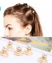 New Lady Bridal Wedding Prom Spiral Twist Pearl Crystal Clip Hairclip Jewely Hairpin Fashion Women Styling Tool Accessories Gift(China)