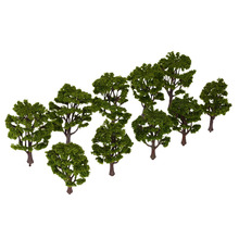 Hot Sale Handcrafted Tree Model Architectural Model for Train Layout Garden Scenery Scene Landscape 10Pcs Plastic Model Trees(China)