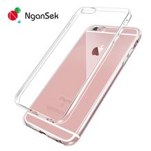 Ultra Thin Flexible Soft Phone Case for iPhone 7 Plus SE 5 5s 6 6s Plus 4 4S Case Transparent Back Cover TPU Silicone Gel Case