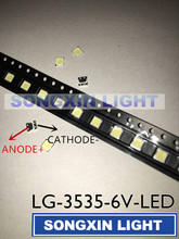 80pcs LG Innotek LED LED Backlight 2W 6V 3535 Cool white LCD Backlight for TV TV Application 2-CHIP
