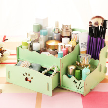 Manufacturers seek show Seoul new 15 desktop wooden box DIY cosmetic storage box.