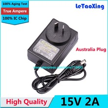 Australia Plug AC 100-240V to DC 15V 2A Power Adapter Supply 1.2A Charger adaptor With IC Chip AU Plug 1pcs(China)
