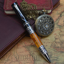 BOOKWORM 675 SILVER FLOWER AMBER CELLULOID BALLPOINT PEN BEST GIFT LUXURY BUSINESS OFFICE SUPPLIER(China)