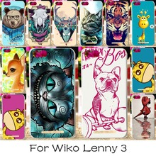 Silicon OR Plastic Phone Case For Wiko Lenny 3 Jerry K-kool K kool III Lenny3 Lenny III 5.0inch Cover Colorful Animal Housing