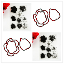 COOLHOO Block frame Flowers Transparent clear Stamp and Metal Cutting Die Seals for DIY Scrapbooking / Card Making/Photo Album(China)