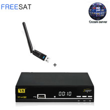1 Year Europe Cccam Server Freesat V8 Super Satellite TV Receiver Full HD DVB-S2 1080P Support 3G Full PowerVu Spain Italy Cccam(China)