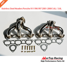 MerTop Race FOR 996 997 01-08 PORSCHE 911 TWIN TURBO STAINLESS STEEL HEADER EXHAUST MANIFOLD (Fits: Porsche)