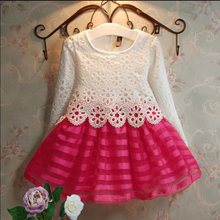 Buy Girl Dress 2017 NEW Party Fashion Girls Dress Cotton Casual Lace Princess Dress Spring Autumn Children Baby Kid vestidos Clothes for $15.83 in AliExpress store