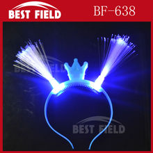 Free shipping 12pcs/lot led optical fiber headwear Princess Light Up Headband Flashing Crown Blinking LED Party Supply
