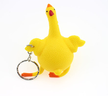 Hot Sale Spoof funny toys vent chicken and egg squeeze hens laying egg funny venting toys(China)