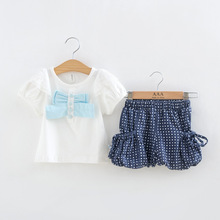 Hot t-shirt+shorts 2016 boutique clothing girls cotton summer clothing set high quality children's set S261 retail