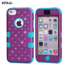 Buy Apple iPhone 5C Glitter Case Luxury Diamond Bling Rhinestone Hybrid Heavy Duty Shockproof Silicone Hard Cover iPhone 5C for $5.59 in AliExpress store