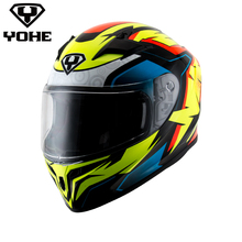 YOHE YH-FF-978 2017 New fluorescence color motorcycle full face helmet ECE helmet capacete de moto High cost performance helmet