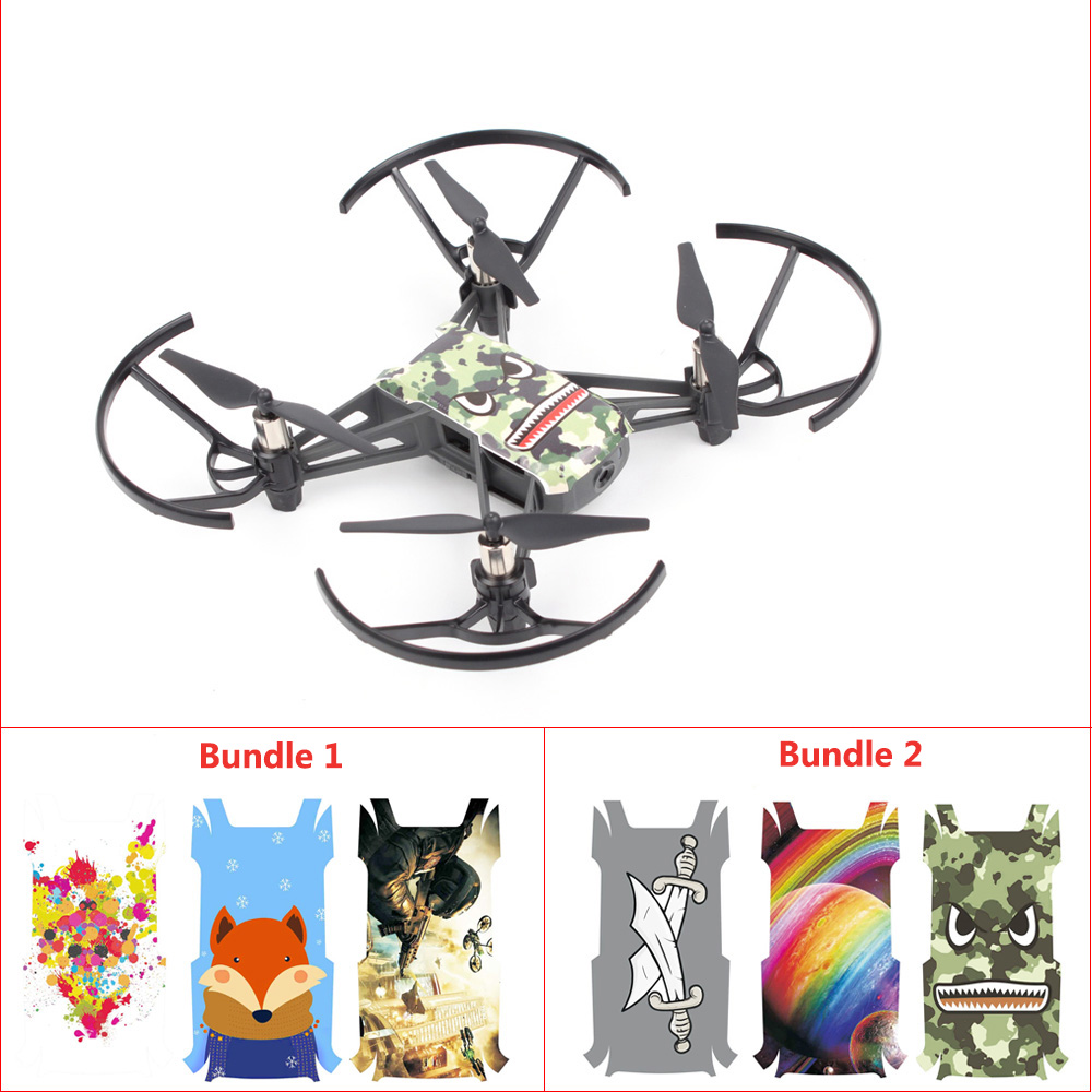 For DJI TELLO Drone 4Pcs//Set Waterproof Stickers 3M Body Decals Skin Protector